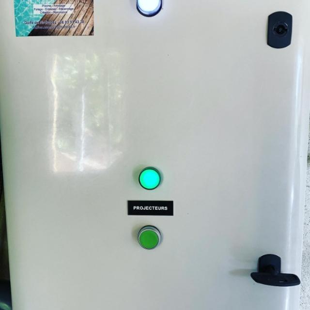 Pose d'une armoire électrique