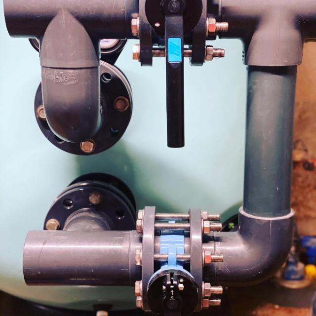 Création d'une batterie de vanne pour piscine publique